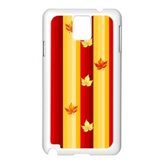 Autumn Background Samsung Galaxy Note 3 N9005 Case (white) by AllOverIt