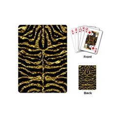 Skin2 Black Marble & Gold Foil Playing Cards (mini)  by trendistuff