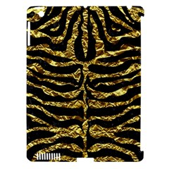 Skin2 Black Marble & Gold Foil Apple Ipad 3/4 Hardshell Case (compatible With Smart Cover) by trendistuff