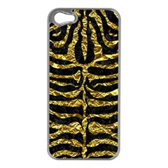 Skin2 Black Marble & Gold Foil Apple Iphone 5 Case (silver)