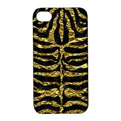 Skin2 Black Marble & Gold Foil Apple Iphone 4/4s Hardshell Case With Stand by trendistuff