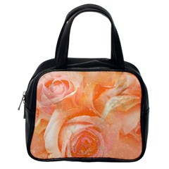Flower Power, Wonderful Roses, Vintage Design Classic Handbags (one Side) by FantasyWorld7