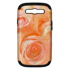 Flower Power, Wonderful Roses, Vintage Design Samsung Galaxy S Iii Hardshell Case (pc+silicone) by FantasyWorld7