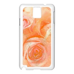 Flower Power, Wonderful Roses, Vintage Design Samsung Galaxy Note 3 N9005 Case (white) by FantasyWorld7