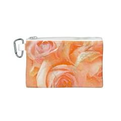 Flower Power, Wonderful Roses, Vintage Design Canvas Cosmetic Bag (s) by FantasyWorld7