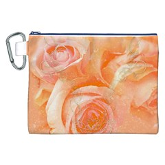 Flower Power, Wonderful Roses, Vintage Design Canvas Cosmetic Bag (xxl) by FantasyWorld7