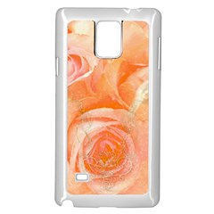 Flower Power, Wonderful Roses, Vintage Design Samsung Galaxy Note 4 Case (white) by FantasyWorld7