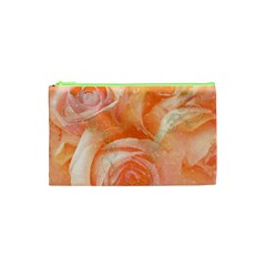 Flower Power, Wonderful Roses, Vintage Design Cosmetic Bag (xs) by FantasyWorld7