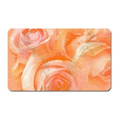 Flower Power, Wonderful Roses, Vintage Design Magnet (rectangular) by FantasyWorld7