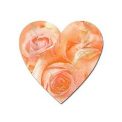 Flower Power, Wonderful Roses, Vintage Design Heart Magnet by FantasyWorld7