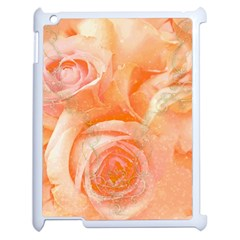Flower Power, Wonderful Roses, Vintage Design Apple Ipad 2 Case (white) by FantasyWorld7