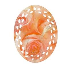 Flower Power, Wonderful Roses, Vintage Design Oval Filigree Ornament (two Sides) by FantasyWorld7