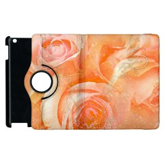 Flower Power, Wonderful Roses, Vintage Design Apple Ipad 2 Flip 360 Case by FantasyWorld7