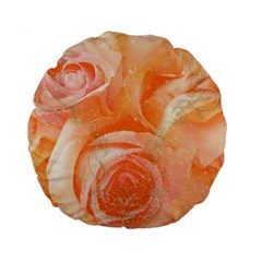 Flower Power, Wonderful Roses, Vintage Design Standard 15  Premium Round Cushions by FantasyWorld7
