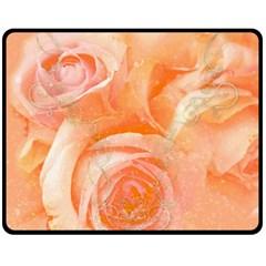 Flower Power, Wonderful Roses, Vintage Design Double Sided Fleece Blanket (medium)  by FantasyWorld7