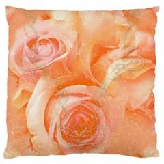 Flower Power, Wonderful Roses, Vintage Design Large Flano Cushion Case (one Side) by FantasyWorld7