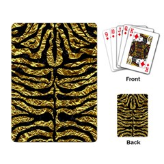 Skin2 Black Marble & Gold Foil (r) Playing Card by trendistuff