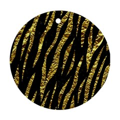 Skin3 Black Marble & Gold Foil Round Ornament (two Sides) by trendistuff