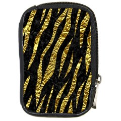Skin3 Black Marble & Gold Foil Compact Camera Cases by trendistuff