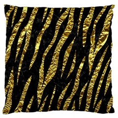 Skin3 Black Marble & Gold Foil Large Flano Cushion Case (two Sides) by trendistuff