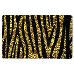 Skin4 Black Marble & Gold Foil Apple Ipad 2 Flip Case by trendistuff