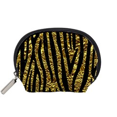 Skin4 Black Marble & Gold Foil Accessory Pouches (small)  by trendistuff