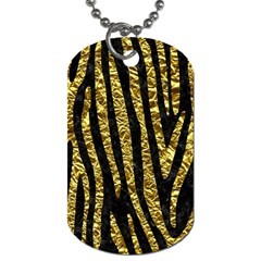 Skin4 Black Marble & Gold Foil (r) Dog Tag (one Side) by trendistuff