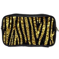 Skin4 Black Marble & Gold Foil (r) Toiletries Bags 2 Side by trendistuff