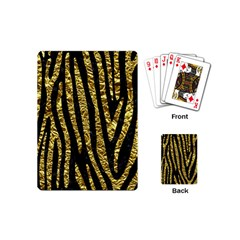 Skin4 Black Marble & Gold Foil (r) Playing Cards (mini)  by trendistuff