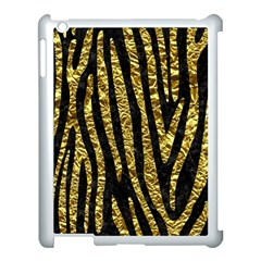 Skin4 Black Marble & Gold Foil (r) Apple Ipad 3/4 Case (white)