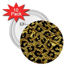 Skin5 Black Marble & Gold Foil 2 25  Buttons (10 Pack)  by trendistuff