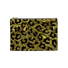 Skin5 Black Marble & Gold Foil Cosmetic Bag (medium)  by trendistuff