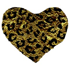 Skin5 Black Marble & Gold Foil Large 19  Premium Heart Shape Cushions by trendistuff