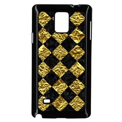 Square2 Black Marble & Gold Foil Samsung Galaxy Note 4 Case (black) by trendistuff
