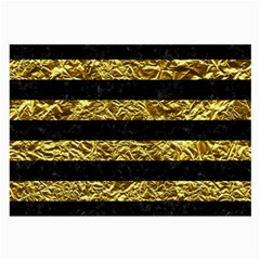 Stripes2 Black Marble & Gold Foil Large Glasses Cloth by trendistuff