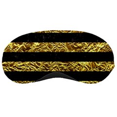 Stripes2 Black Marble & Gold Foil Sleeping Masks by trendistuff