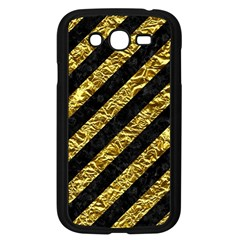 Stripes3 Black Marble & Gold Foil Samsung Galaxy Grand Duos I9082 Case (black) by trendistuff
