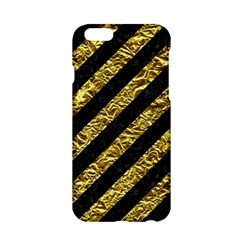 Stripes3 Black Marble & Gold Foil Apple Iphone 6/6s Hardshell Case by trendistuff