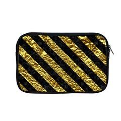 Stripes3 Black Marble & Gold Foil (r) Apple Macbook Pro 13  Zipper Case by trendistuff