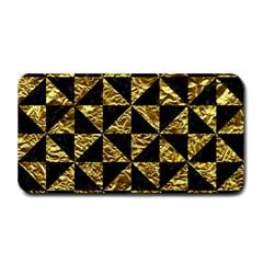 Triangle1 Black Marble & Gold Foil Medium Bar Mats by trendistuff