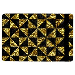 Triangle1 Black Marble & Gold Foil Ipad Air 2 Flip by trendistuff