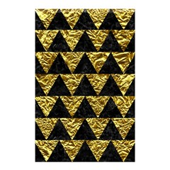 Triangle2 Black Marble & Gold Foil Shower Curtain 48  X 72  (small)  by trendistuff