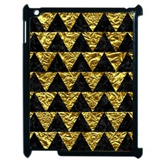 Triangle2 Black Marble & Gold Foil Apple Ipad 2 Case (black) by trendistuff