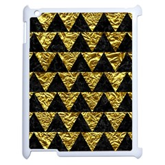 Triangle2 Black Marble & Gold Foil Apple Ipad 2 Case (white) by trendistuff