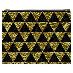 Triangle3 Black Marble & Gold Foil Cosmetic Bag (xxxl)  by trendistuff