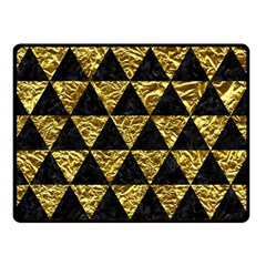 Triangle3 Black Marble & Gold Foil Double Sided Fleece Blanket (small)  by trendistuff