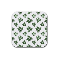Nature Motif Pattern Design Rubber Square Coaster (4 Pack)  by dflcprints