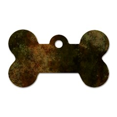 Marbled Structure 4a Dog Tag Bone (one Side) by MoreColorsinLife