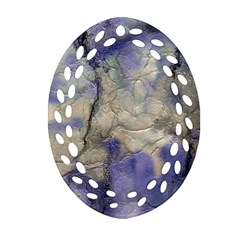 Marbled Structure 5b2 Ornament (oval Filigree) by MoreColorsinLife