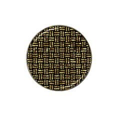 Woven1 Black Marble & Gold Foil Hat Clip Ball Marker (4 Pack) by trendistuff